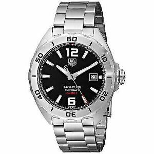 Tag Formula 1 Watch >> Tag Heuer Formula 1 Calibre 5 Black Dial Automatic Steel Men Watch Waz2113 41mm