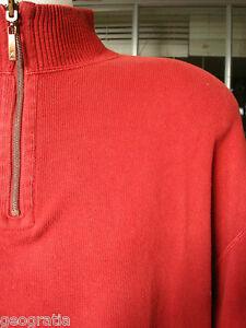 TOMMY-BAHAMA-Mens-Orange-1-4-Zip-Fleece-Jacket-Size-XL