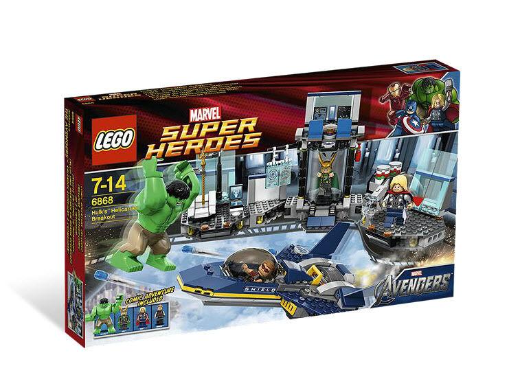 Lego 6868 Marvel Super Heroes Avengers Hulk's Helicarrier Breakout New in Box
