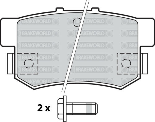 OEM SPEC FRONT REAR PADS FOR ROVER 600 1.8 1996-00