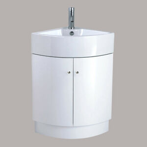 floor standing corner bathroom cabinet bathroom corner vanity unit sink basin ceramic floor 23172
