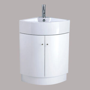Corner Sink Storage : ... -Corner-Vanity-Unit-Sink-Basin-Ceramic-Floor-Standing-Storage-Cabinet