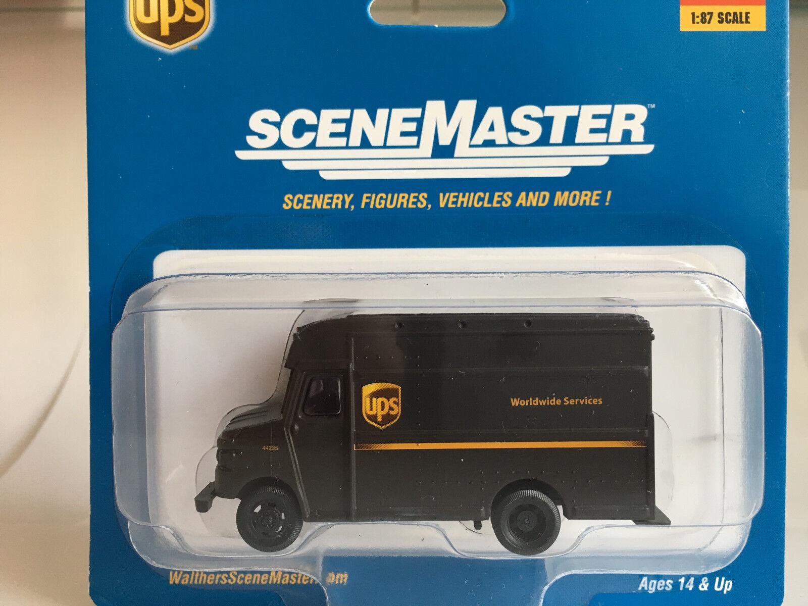 Ups Van, Van, Van, Gauge H0, Walthers Car Vehicle Model 1 87, 949-14001 481edb