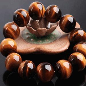 8mm-Natuerliche-Afrikanische-Bruellen-Tigerauge-Runde-Perlen-Armband-Herrenschmuck