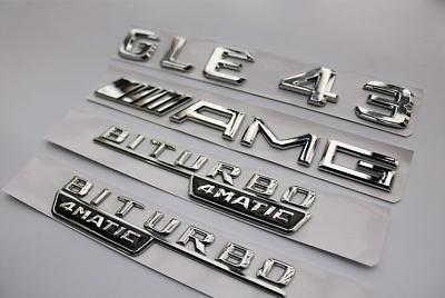 """Matte Black Letters /""""GLE 43 AMG/"""" Trunk Badge Emblem Sticker for Benz GLE43 AMG"""