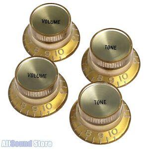 Reflector Volume Knobs Gold//Gold For USA Gibson® Guitar PK-0184-032 2
