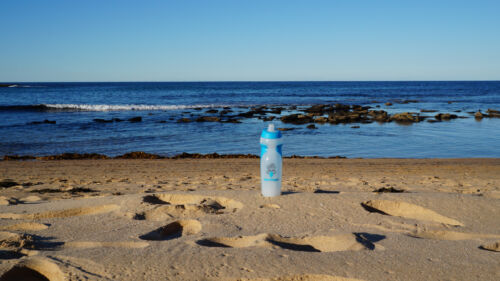 quad pack 4 x Aqua Tongue 500ml one way valve water bottles