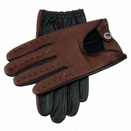 Dents Woburn Leather Driving Gloves  Black/Eng Tan Heritage Collection