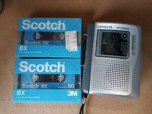 Vintage-Aiwa-TP-VS550-Handheld-Cassette-Voice-Recorder-V-Sensor-External-Speaker