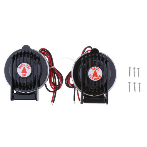 Pair Windlass Foot Switch Compact Up /& Down On//Off for Marine Boat Yacht