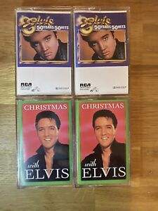 Lot of 4 Elvis Presley cassette tapes - 50 Years 50 Hits set + Christmas set