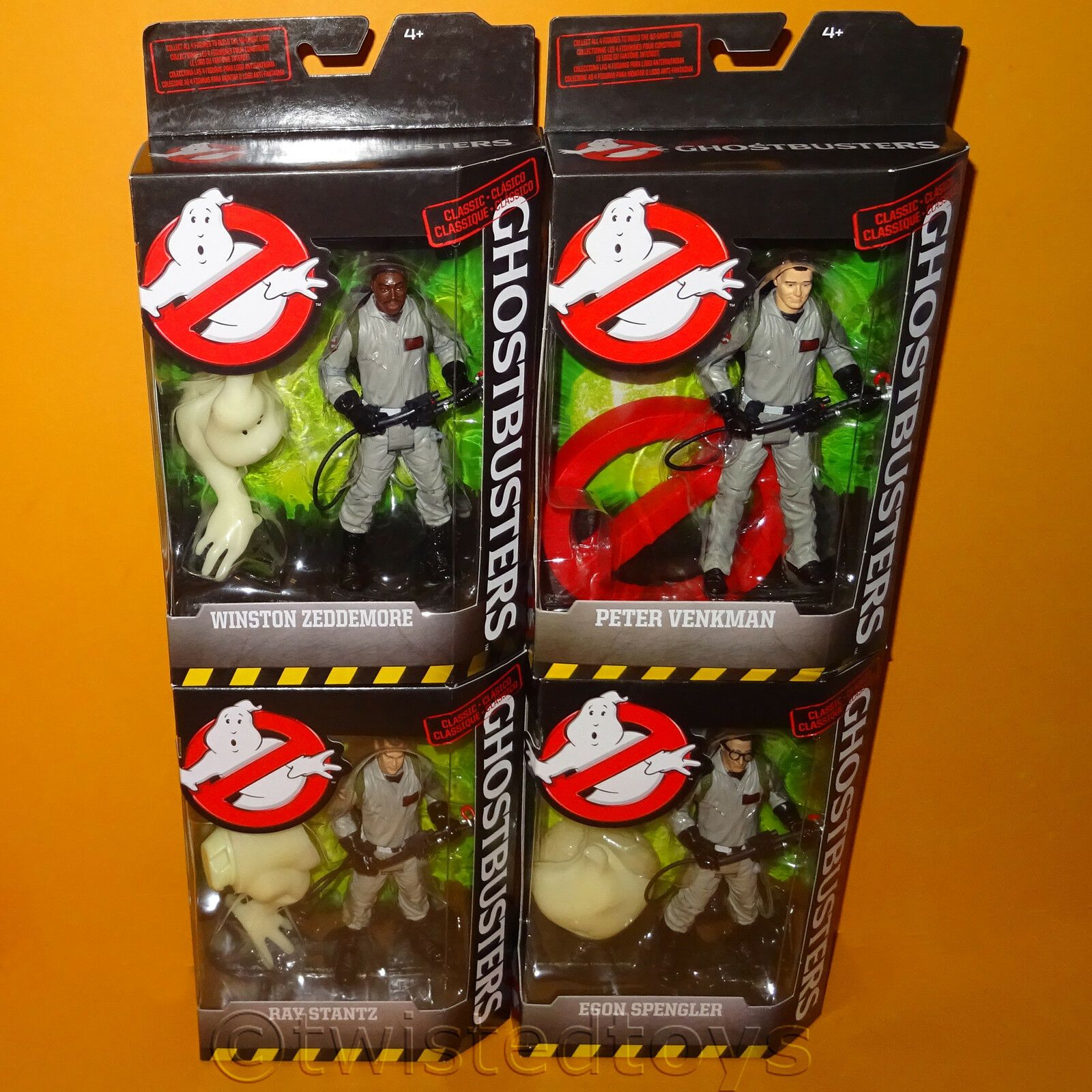 2016 MATTEL GHOSTBUSTERS CLASSIC 6  FIGURES COMPLETE LOT MINT BOXED SEALED NEW