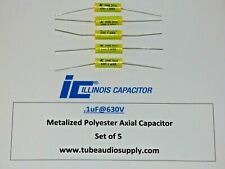 Illinois Polyester 1uf630v Capacitors Polyester Film Axial Lead Set5