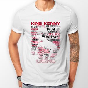 T Shirts & Hoodies Unisex (WHITE) Kenny Dalglish Liverpool Football FREEPOST UK