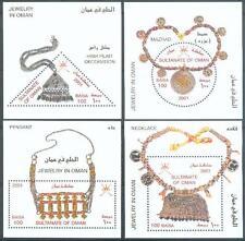 Oman 2001 ** Bl.26/29 Schmuck Silber Gold Goldsmithery