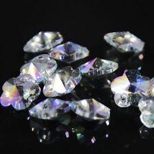 12pcs Swarovski 8mm plum blossom shape Crystal beads C Hyaline purple
