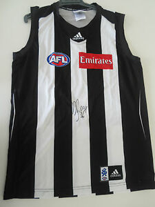 COLLINGWOOD-DANE-SWAN-HAND-SIGNED-JERSEY-UNFRAMED-PHOTO-PROOF-amp-C-O-A