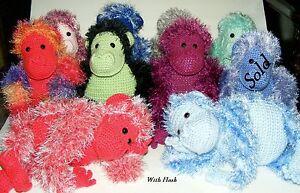 Handmade 0+ yrs Funky Monkey Kid Toy Gift Eyelash Yarn Plush - FM049-058