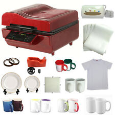 3D Heat Press Machine Sublimation INK Transfer Mug Plate Tile T-shirt Printing