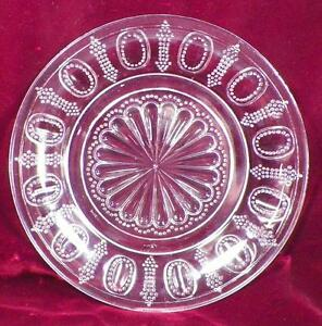 One-Hundred-One-Plate-Early-American-Pattern-Glass-George-Duncan-Beaded-101