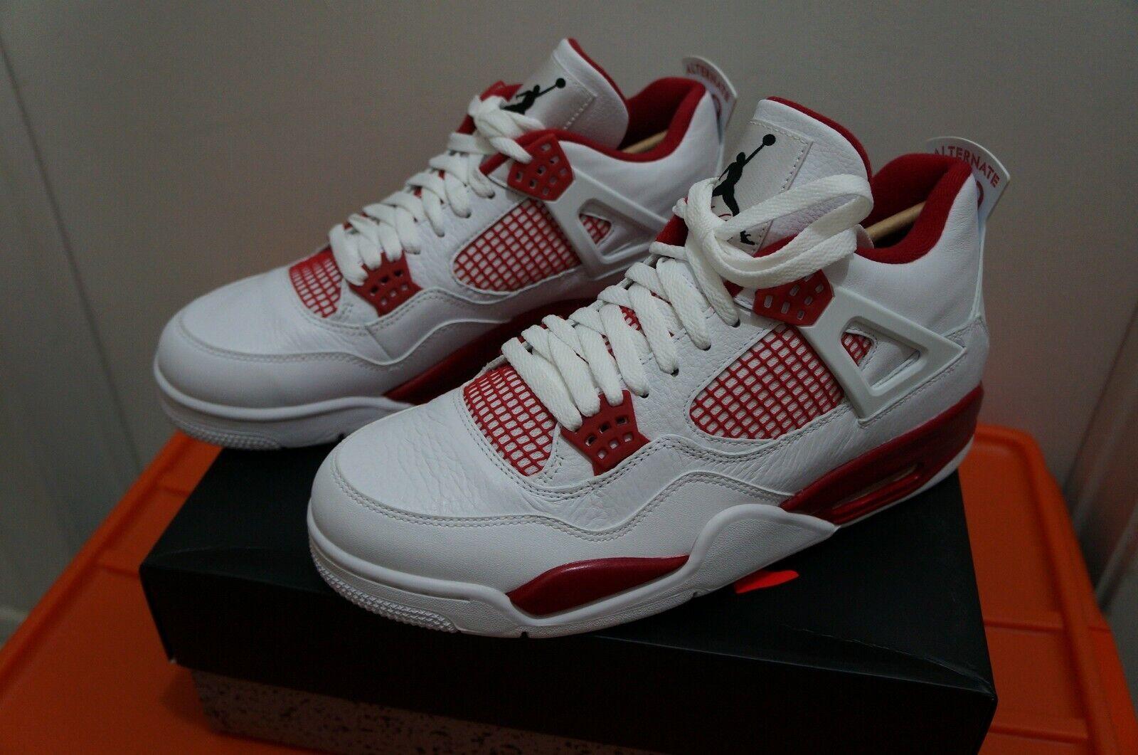 Air Jordan IV 4 Retro Alternate 89 White   Gym Red Mens Size SZ 10.5 308497-106