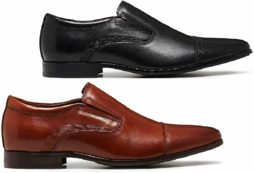 TAN MEN/'S SLIP ON WORK SHOES MENS JULIUS MARLOW JOINED WORK LEATHER BLACK