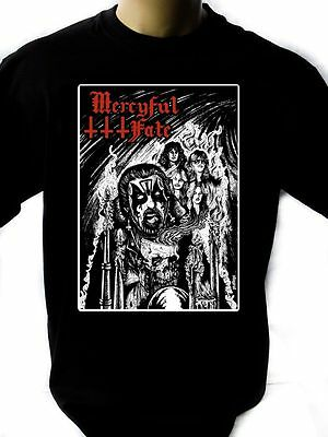 2019 Mode Mercyful Fate 02 Mens Black Rock T-shirt New Sizes S-xxxl