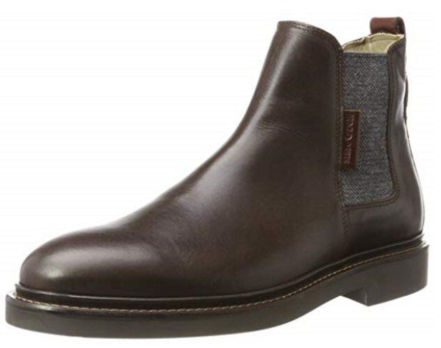 BNWT 2nd Marc O'Polo Men''s Flat Heel Größe Chelsea Dark Braun Stiefel Größe Heel 10 Rrp 9c07c8
