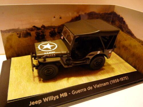 1958//1975 Voiture 1//43 TEST JEEP WILLYS MB guerre Viet-Nam