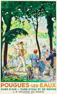 Pougues-Les-Eaux-1935-by-Lucien-Jonas-A1-High-Quality-Canvas-Print
