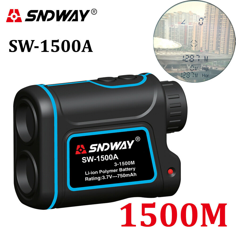 SNDWAY® Digital Laser Rangefinder Hunting Monocular Telescope 1500M Astronomic