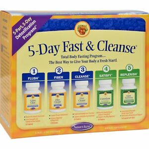 Ultimate Fasting Cleanse Kit 5 Pc Natures Secret Natural Body Cleansing
