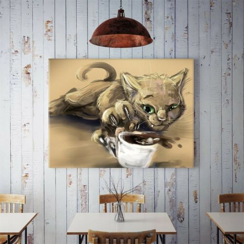 Lovely Cat Art Paintings Prints Canvas Poster Home Ornaments Gift