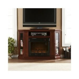 corner electric fireplace heater flat screen tv stand media console mantel shelf ebay. Black Bedroom Furniture Sets. Home Design Ideas