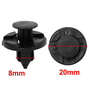 10-8mm-Plastic-Rivet-Fastener-Mud-Flaps-Bumper-Fender-Push-Clips-fit-for-Nissan