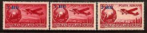 ROMANIA 1952 OVERPRINT PLANE COLLORS VARYETY OF COLOR