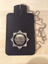 Neck Chain ID Card Holder With Security Officer Badge