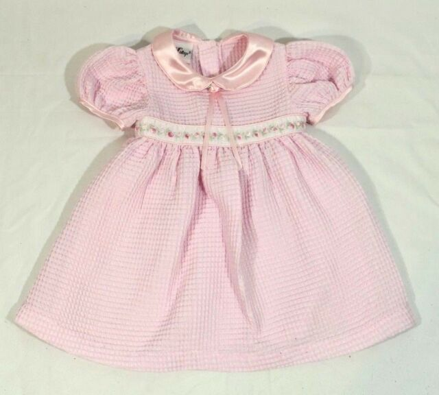 ad3d3f5b7 Vintage Rose Cottage Girl Dress Sz 9 Months Pink Short Sleeves Cute Summer
