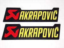 2 x Akrapovic Aufkleber - 129mm x 36mm, schwarz - Rot - Gelb
