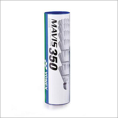 100% Original 60 Stück -neu Yonex Mavis 350 Nylon Badmintonball Federball Weiß/rot