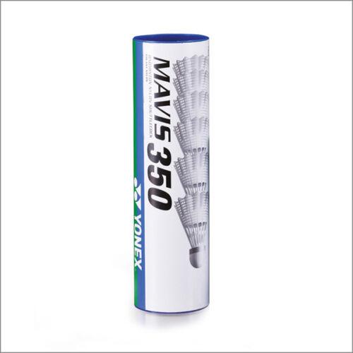 60 Stück YONEX Mavis 350 Nylon Badmintonball Federball weiß/rot -NEU
