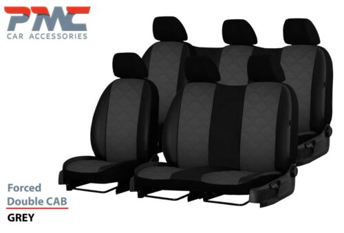 VW  T5 T28 2003-2015 6 SEATS ECO LEATHEREMBOSSED SEAT COVERS*TAILORED*