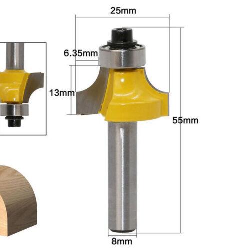 3pcs 8mm Holzbearbeitungsschneider Schlitzschneider Mit Lager Trimmwerkzeug