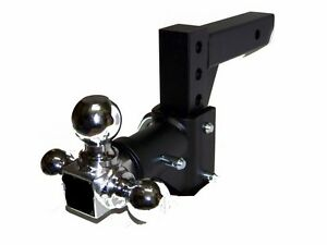 H-D-Tri-ball-Swivel-Adjustable-Trailer-Tow-Drop-Hitch-Ball-Mount-2-034-Receiver