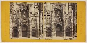Rouen-Cattedrale-Foto-Jules-Valecke-Stereo-L53S1n21-Vintage-Albumina-c1865