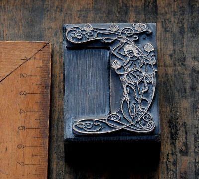 Dame Jugendstil Kupferdruckstock Galvano Druckstock Klischee Art Nouveau Frau ..