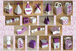 CRAFT-ROBO-SILHOUETTE-Xmas-Gift-Box-Bag-amp-Favour-templates-CD96-by-cocopopart