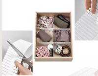 Ikea 3 Piece Drawer Dividers Organizers Wardrobe Organizer