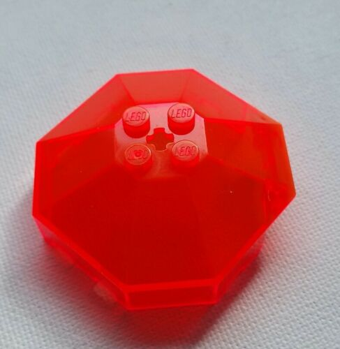 Lego Transparent Neon Orange Octoganal 6x6 Windscreen