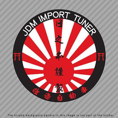 MADE IN JAPAN Japanese Kanji Vinyl Decal Sticker JDM Rising sun P018